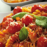 Fusilli Pasta with Cherry Tomatoes, Parmesan and Ricotta